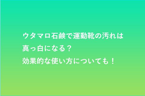 utamaro-soap-tukaikata